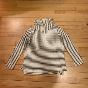 NWT Lou & Grey striped turtleneck pullover